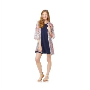78b6ce1a18d Wallflower Dresses - Wallflower Solid Swing Dress and Kimono Set
